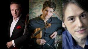 Marc Coppey, violoncelle Nicolas Dautricourt, violon Vincent Larderet, piano