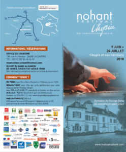 Nohant Festival Chopin | ACCEUIL FESTIVAL NOHANT 2018