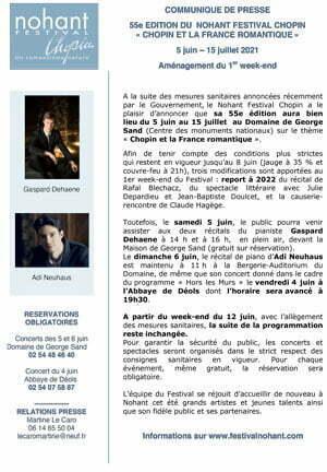 Nohant Festival Chopin 2021 - 1er week-end